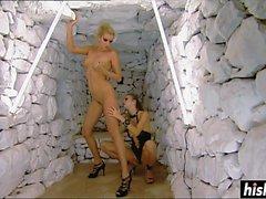 lesbianas magníficas lamen entre sí es coños