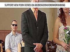 Bröllop fuckfest med feta skönhet som har är hård borrad av stora sportare