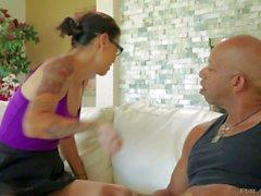 Dana Vespoli shows her nice Ass to black guy
