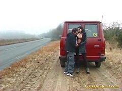 tyska paret fan på gatan