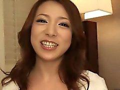 Ama de casa bello japoneses devore de un extrañas verga