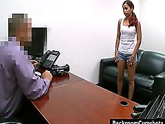 Amatuer girl fucking in backroom office