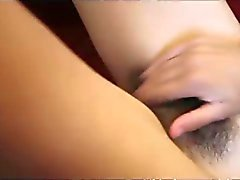 young hairy pussy tean beauty rubs one out