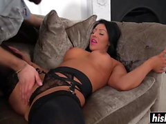 Candi knows how to ride a big dick