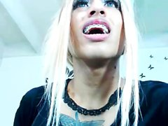 Webcam Show With A Busty Ebony Tgirl