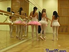 Hot ballet female orgy