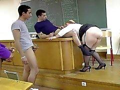 Anne Marie rasvan Bbw ranskalainen professori