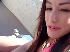 Rooftop sex with lovely Jennifer White