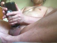 Titta på porr och jävla min högljudda Fleshlight leksak till en intensiv orgasm
