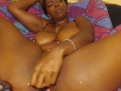 Ebony toys masturbating webcam