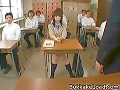 Steamy echte Aziatische schoolmeisje Mari part6