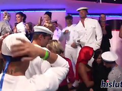 Sailors fuck chicks at the club