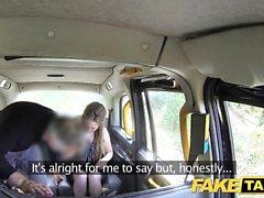 Taxi falso Cougar quer profunda grande pau duro
