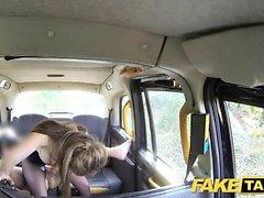Sahte Taksi Cougar derin sert büyük horoz istiyor