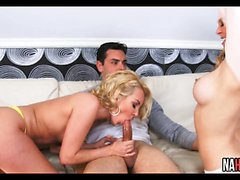 Hot Blondes Threesome Aaliyah Love, Cherie DeVille