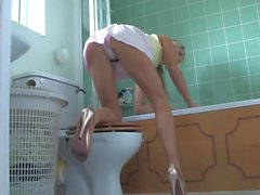 cleaning in panty tease