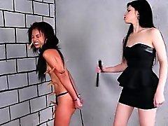 Brazilian slave Pollys lesbian BDSM