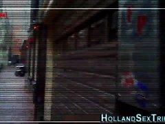 La prostituée d'ébène néerlandaise baise