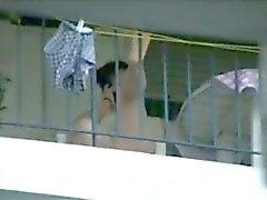 balcon Vous mélangée balkondaki komsular