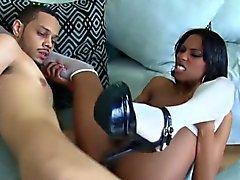 Adriana Malao takes a dick in her ebony twat