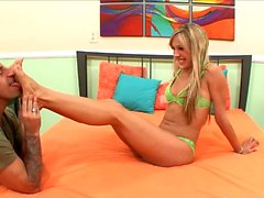 Amy Brooke Sucks Her Toes and A Cock