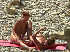 Impresionante desnuda chicas playa compilación