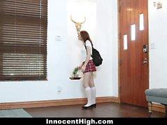 InnocentHigh - Horny Teen Skips School for Dick