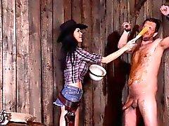 BDSM von adorable Babe genießen alle Fetisch Dinge