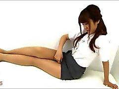 Секси азиатской колготки ног и ступней Найлоны