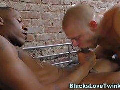 Ebony prisoner gobbled