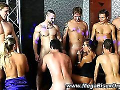 Bi curious group orgy blowjobs