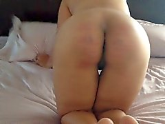 Hornycams - Slut Gets Caning y Pounding Anal