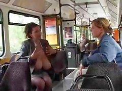 Dev Göğüsler Otobüs On sağım