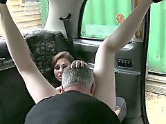 Kinky customer let the driver fuck her in the ass for free