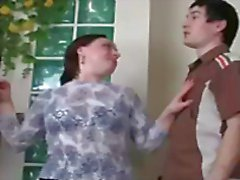 Chubby mature European gal Victoria gets hammered by young Vitas