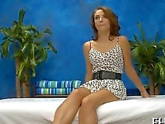 Wonderful petite teen porked in a massage parlor