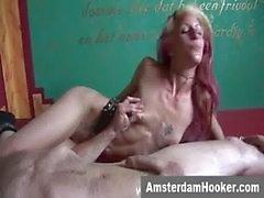 Niederländischen prostituieren nimmt klebrige Gesicht