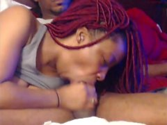 Amateur Ebony Freak Gives Me A Blowjob