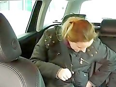 Amateur Jana sucks and fucks in the car