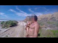 Con mi primo desnudos en la playa