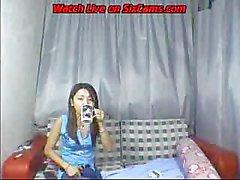 la causerie libre avec l'étudiante asiatique sur les webcam la plus - sixcams