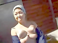 Japanese Chubby Mature Cleaning Lady