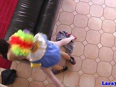 Glamcore reifen EUR Prostituierte rammte raue von Clown