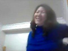 Chinesas esposa mostrar mamas na webcam