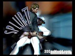 Mad Открытый Оргия в гей-клуб 3D геев комиксы или Anime Мультфильмы