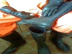 Benim turuncu gamseleleri içinde Horoz oyun ve masturbasyon yapmak.