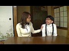 Japanese läraren fan retarderas grabb