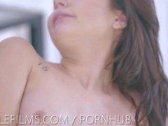 Nubilefilms Sensual tease leads to passionate fuck