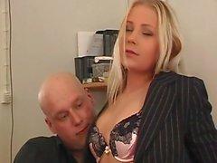 Analsex mit Blondine