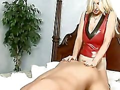 Kinky milf Brittany Andrews fucks her mans ass with her huge starp on